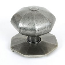 From The Anvil Octagonal Centre Door Knob Pewter Patine