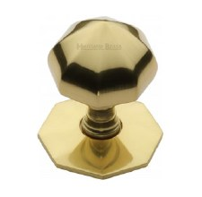 Heritage V880 Centre Door Knob Polished Brass Lacquered