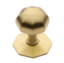 Heritage V880 Centre Door Knob Satin Brass
