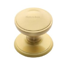 Heritage V900 Centre Door Knob Satin Brass