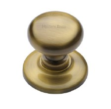Heritage V901 Centre Door Knob Antique Brass Lacquered