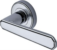 Heritage Century Round Rose Door Handles CEN11924 Polished Chrome