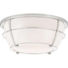 Quoizel Chance Bathroom Flush Light Polished Chrome