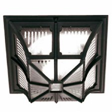 Elstead Chapel Flush Porch Ceiling Light Black