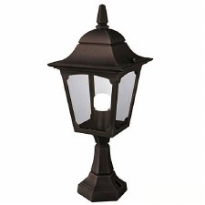 Elstead Chapel Pedestal Lantern Light Black