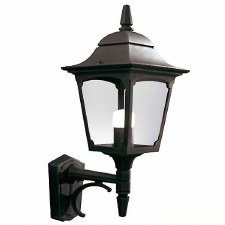 Elstead Chapel Outdoor Wall Uplight Lantern Black