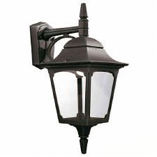 Elstead Chapel Outdoor Wall Downlight Lantern Black