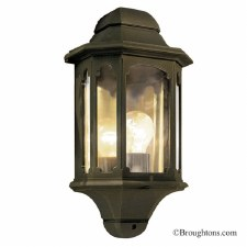 Elstead Chapel Flush Outdoor Wall Light Black Gold