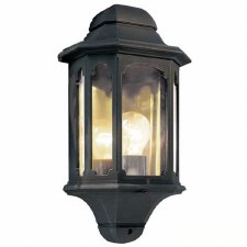 Elstead Chapel 5 Sided Flush Outdoor Wall Light Lantern Black