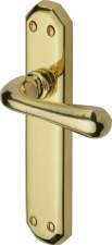 Heritage Charbury Latch Door Handles V7060 Polished Brass Lacquered