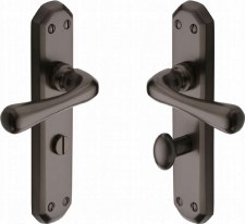 Heritage Charlbury Bathroom Door Handles V7070 Matt Bronze