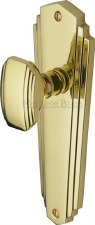 Heritage Charlston Door Knobs Lever Latch CHA1910 Polished Brass