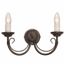 Elstead Chartwell Double Wall Light Black Gold