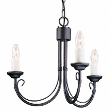Elstead Chartwell 3 Arm Chandelier Black
