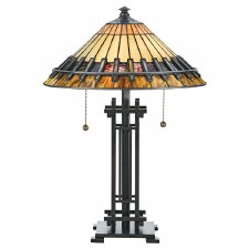 Quoizel Chastain Tiffany Table Lamp Vintage Bronze