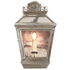 Chateau Flush Outdoor Wall Light Lantern Nickel