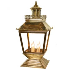 Chateau Large Pedestal Lantern Polished Brass