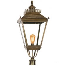 "Chateau Large Lamp Post Head for 3"" dia. Light Antique Brass"