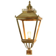 "Chateau Large Lamp Post Head for 3"" dia. Polished Brass"