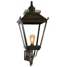 Chateau Large Outdoor Wall Light, Antique Brass