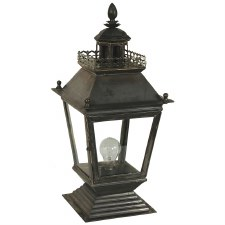 Chateau Pedestal Lantern Antique Brass