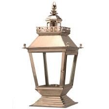 Chateau Pedestal Lantern Nickel