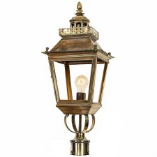 "Chateau Lamp Post Head for 2"" dia. Light Antique Brass"