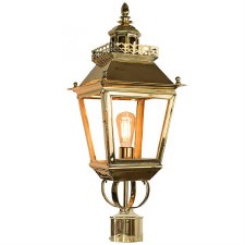 "Chateau Lamp Post Head for 2"" dia. Polished Brass"