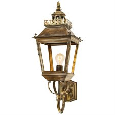 Chateau Outdoor Wall Lantern, Light Antique Brass