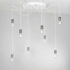 David Hunt CHA0802 Chatsworth 8 Light Cluster Pendant White