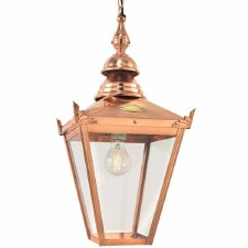 Elstead Chelsea Copper Chain Porch Hanging Lantern Light