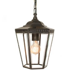 Chelsea Small Pendant Lantern Antique Brass