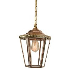 Chelsea Small Pendant Lantern Polished Brass Unlacquered