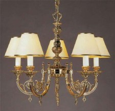 Chelsea 5 Arm Chandelier Polished Brass