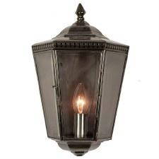 Chelsea Flush Outdoor Wall Light Lantern Antique Brass