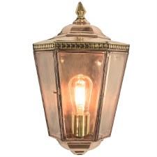 Chelsea Flush Outdoor Wall Light Lantern Polished Brass