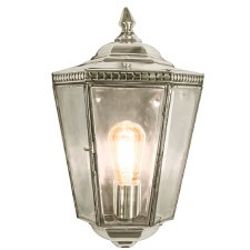 Chelsea Flush Outdoor Wall Lantern Nickel