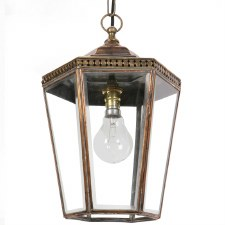 Chelsea Small Pendant Lantern Light Antique Brass