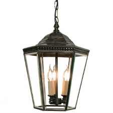 Chelsea Large Pendant Lantern Antique Brass