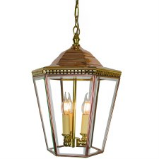 Chelsea Large Pendant Lantern Polished Brass Unlacuquered