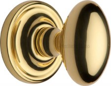 Heritage Chelsea Mortice Knobs CHE7373 Polished Brass