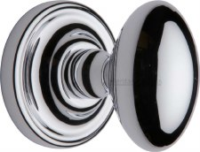 Heritage Chelsea Mortice Knobs CHE7373 Polished Chrome