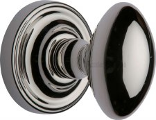 Heritage Chelsea Mortice Knobs CHE7373 Polished Nickel