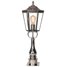 Chelsea Tall Pillar Lantern Nickel