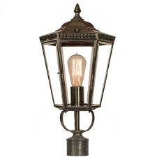 "Chelsea Lamp Post Head to suit 2"" dia. Antique Brass"