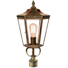 "Chelsea Lamp Post Head to suit 2"" dia. Light Antique Brass"