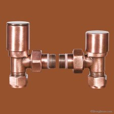 Chelsea Manual Radiator Valves Antique Copper