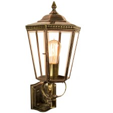 Chelsea Outdoor Wall Lantern Light Antique Brass