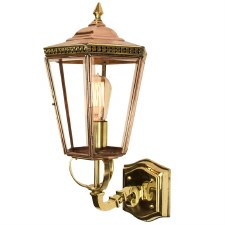Chelsea Outdoor Wall Lantern Polished Brass Unlacquered