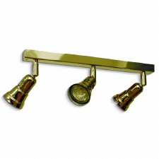 Broughtons Cherry Triple Spotlight on a Bar Polished Brass Unlacquered